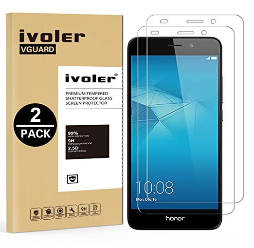 28 opinioni per [2 Pack] Pellicola Vetro Temperato Huawei Honor 5c, iVoler® ** [Protezione