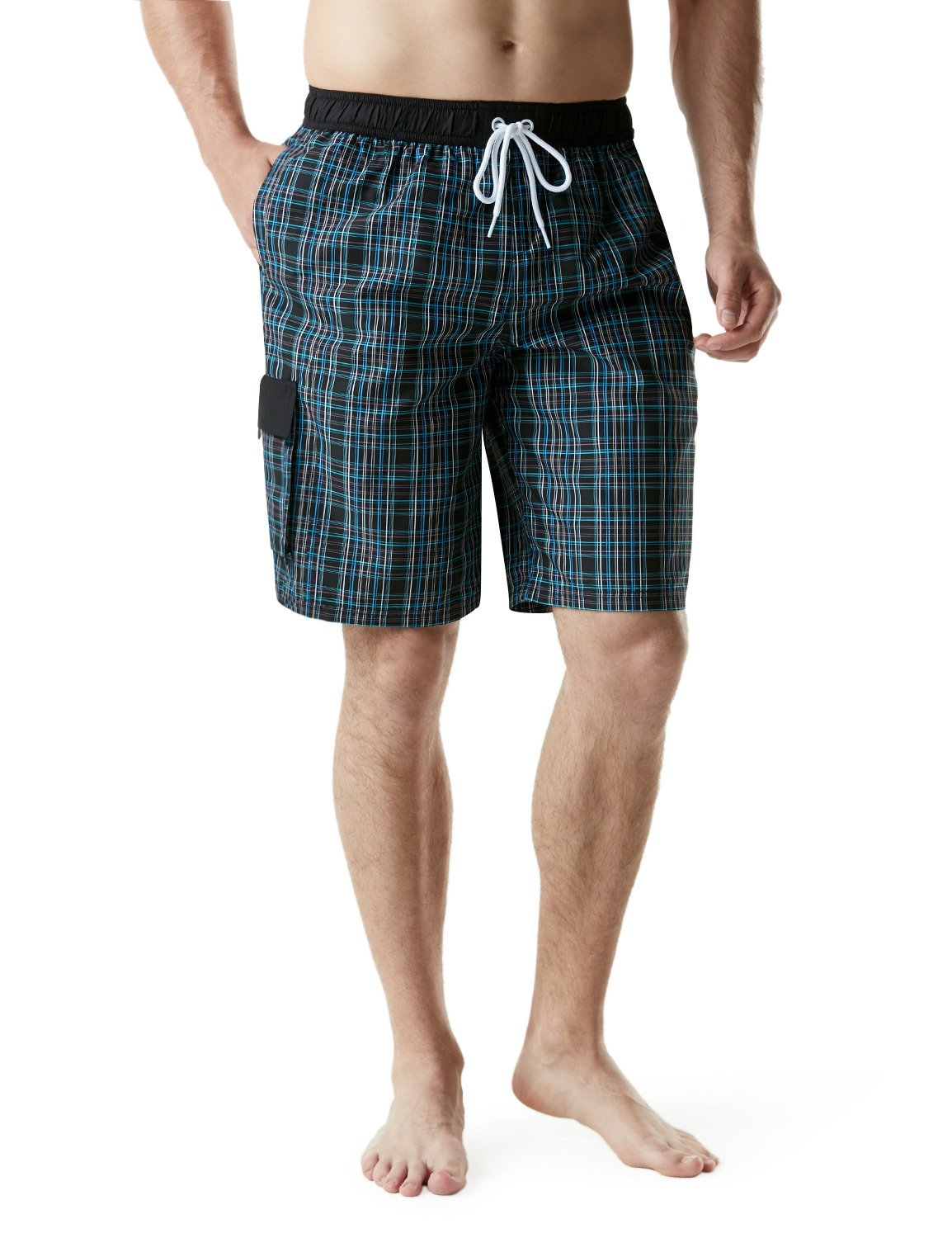 Tesla TM-MSB04-CKB_Medium Men's Swimtrunks Quick Dry Water Beach MSB04 by Tesla