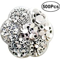 TOYMYTOY 500pcs Wiggle Googly Eyes | Self-Adhesive, Assorted Sizes, DIY Scrapbooking Crafts Toy Accessories, Handmade Toys