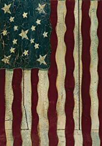 Toland Home Garden Freedoms Gate 12.5 x 18 Inch Decorative Rustic Patriotic America USA July 4 Garden Flag