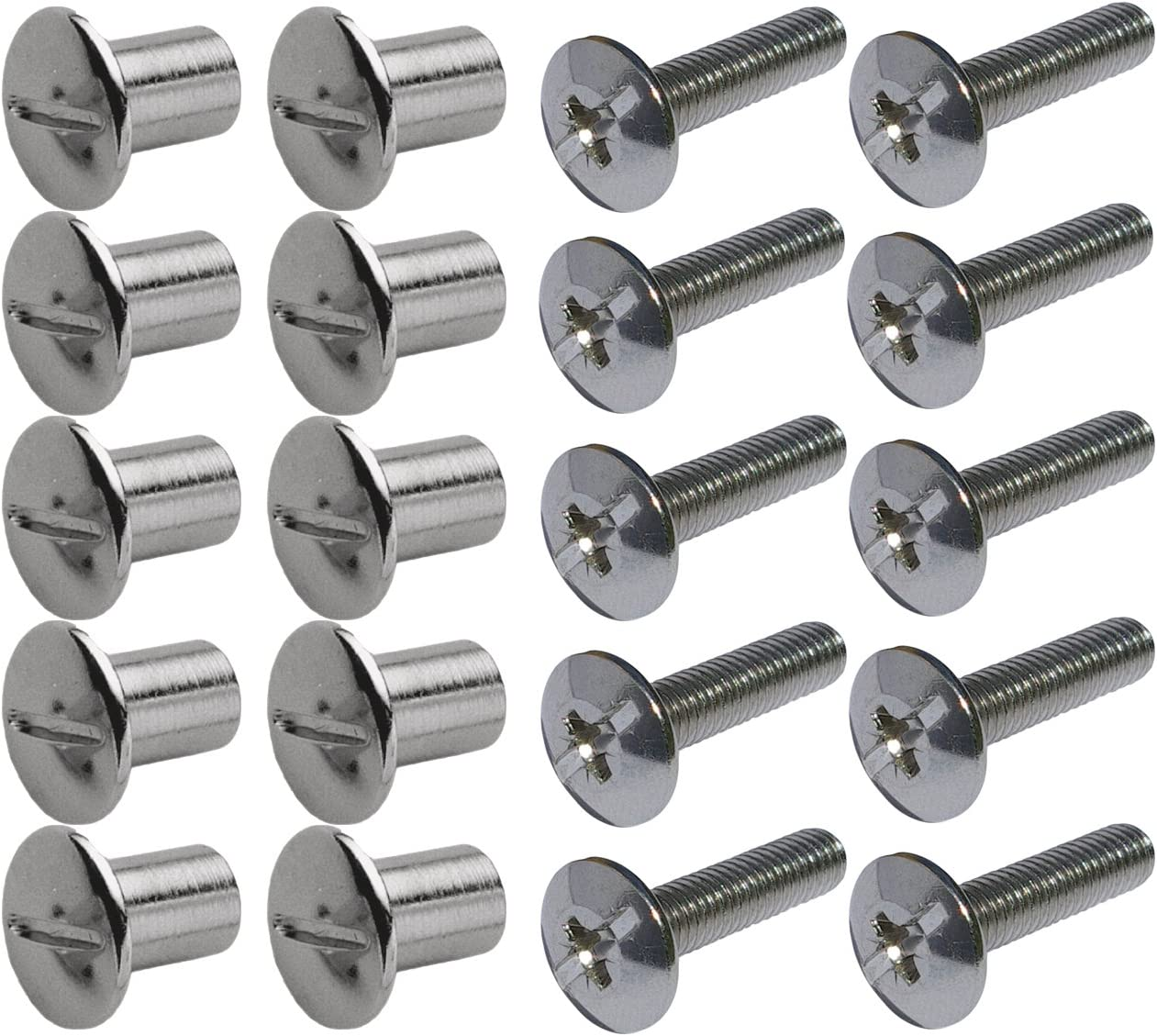 Secotec VAS150/Connecting Screw /Zinc Nickel-Plated Pack of 10 Phillips Wood Thickness 8/mm Length M6 /40/ 30/