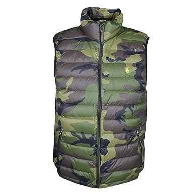 Ralph Lauren Veste matelassée sans Manches Vert Camouflage pour Homme   Amazon.fr  Vêtements et accessoires e2c919498e2