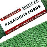 Brotree 4mm パラコード 30m テント ロープ 7芯 パラシュートコード 耐荷重250kg ガイロープ キャンプ サバイバル アウトドア用
