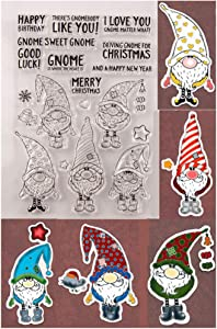 KWELLAM Merry Christmas Santa Happy New Year Happy Birthday Gook Luck Stamps for Card Making Decoration and DIY Scrapbooking
