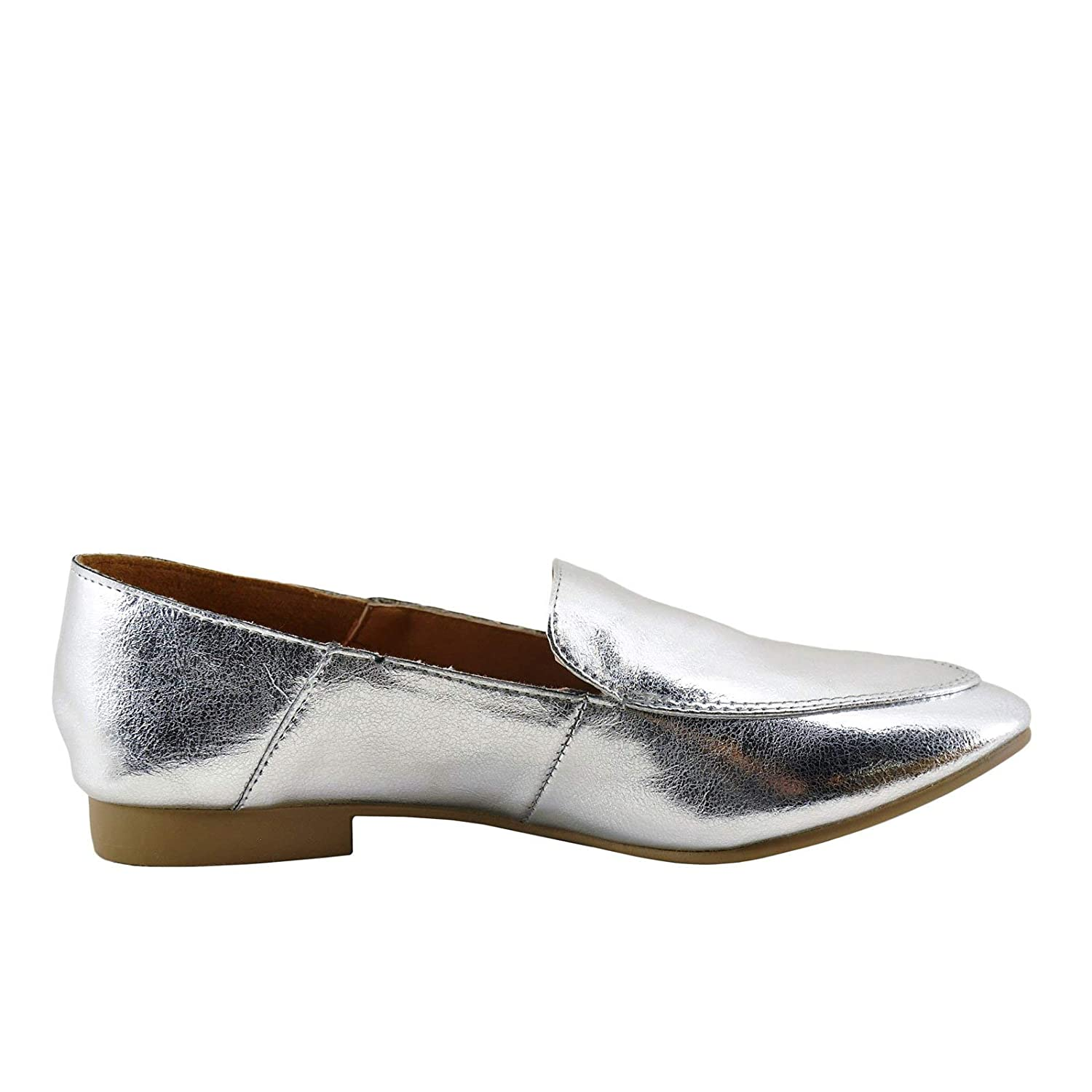 6, Silver GENX Women Synthetic Slip On Low Height Loafer Regent-04