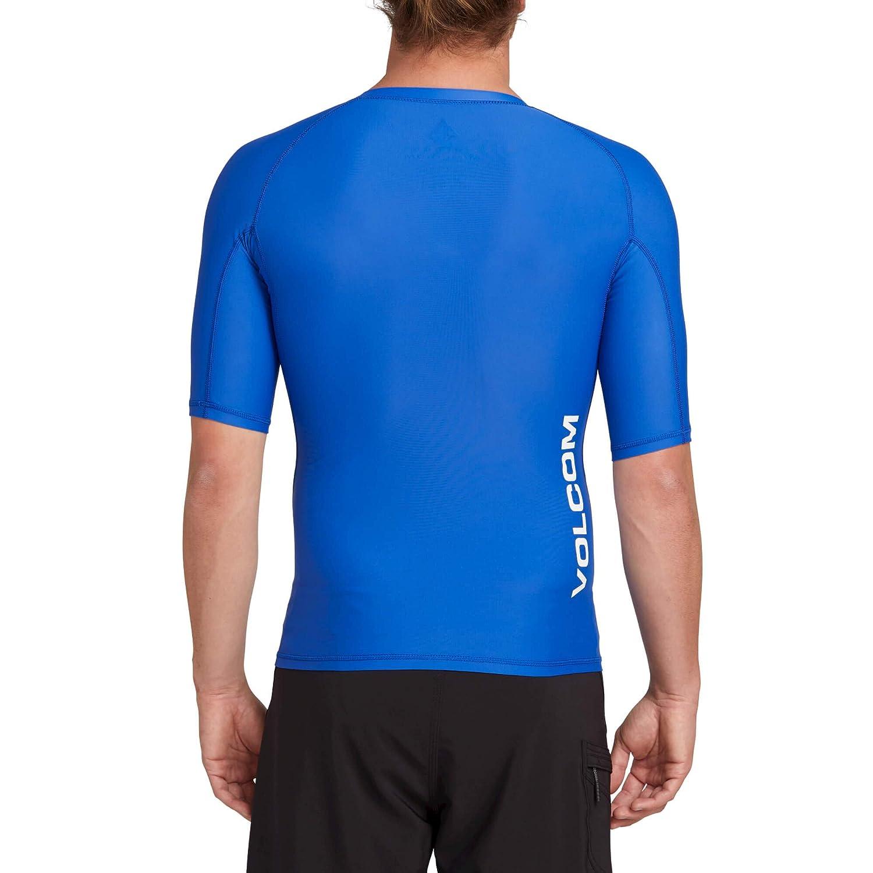 Volcom Mens Lido Solid Short Sleeve Rashguard