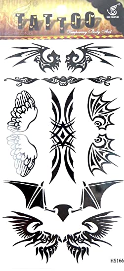 02020814c Image Unavailable. Image not available for. Color: guys girls tribal tramp  stamp temporary tattoo Body art ...
