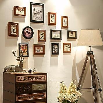 Su0026D Das Wohnzimmer Massivholz Moderne, Minimalistische Home Stilvolle Foto  Wand Dekoration Ideen Kombiniert Bilderrahmen Wand