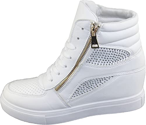 Womens Wedge Trainers Ladies Ankle