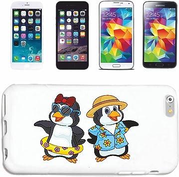 Reifen-Markt Hard Cover - Funda para teléfono móvil Compatible con Huawei P9 Dos Enamorados PINGÜINOS EN Vacaciones con Hawaii Camisa Y Schwimmring PINGÜINOS Aves: Amazon.es: Electrónica