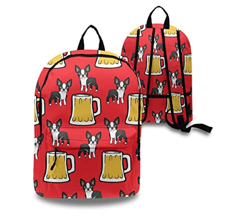 434c3732f36b Amazon.com: Happy New Year Boston Terriers With Beer Daypack With ...