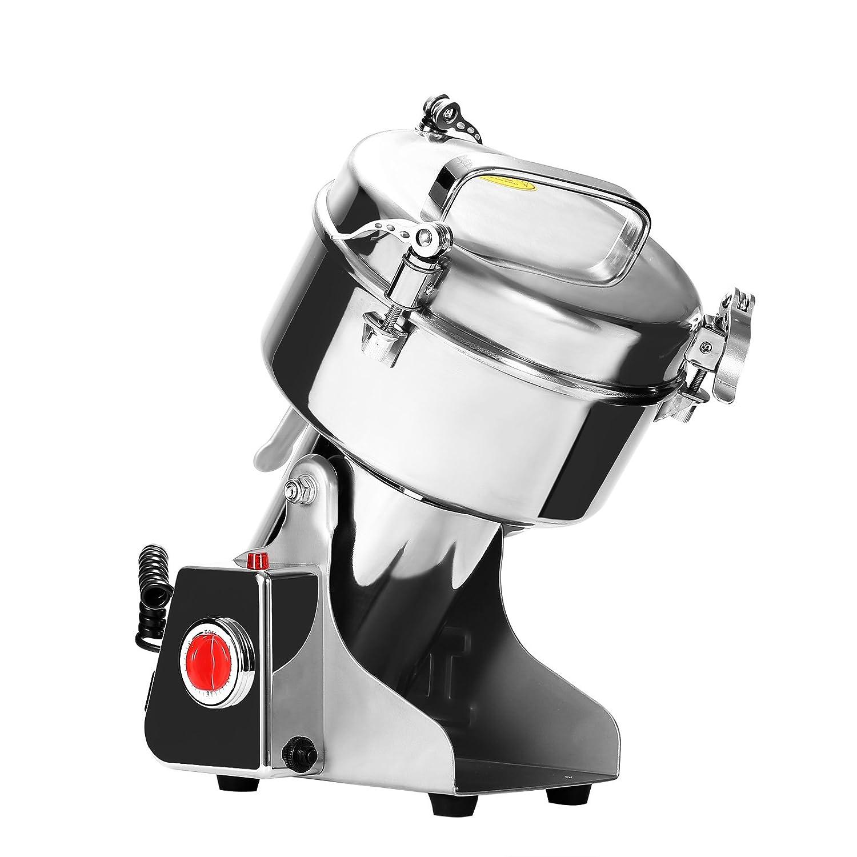 BuoQua Muti Zerkleinerer Elektrisch Edelstahl 2800 Watt Mühle Automatisch 1000G Mühle Profi Premiume Lebensmittel-Stufe Zerkleinerer für Satz Kaffee Nüsse Gewürze usw. (1000G)