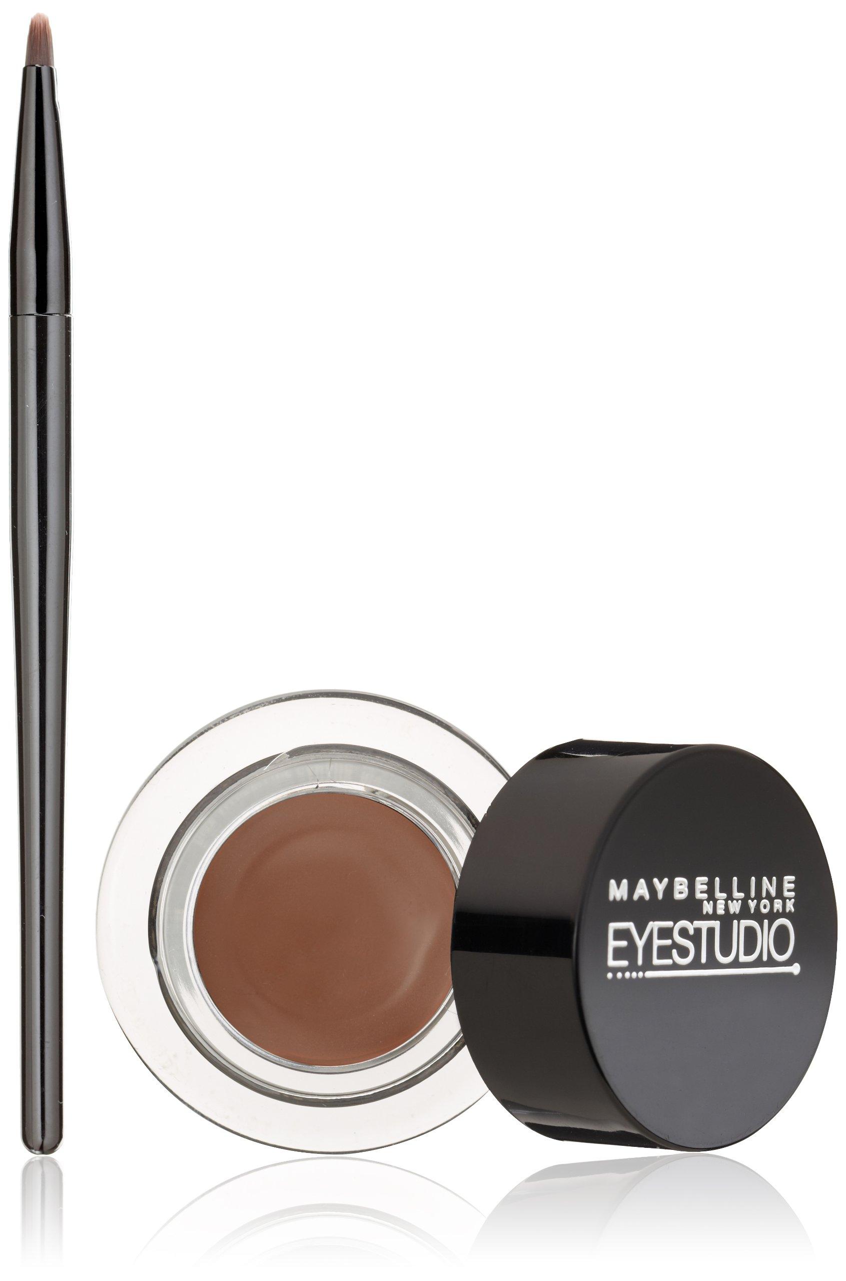 Maybelline New York Eye Studio Lasting Drama Gel Eyeliner, Waterproof, Brown 952, 0.106 oz