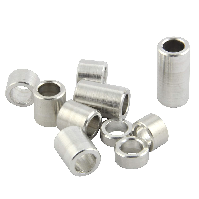distanciadores de casquillos distanciadores de distancia de 10 mm de di/ámetro exterior 4 unidades Casquillos de aluminio M5 de di/ámetro interior 5,3 mm FASTON