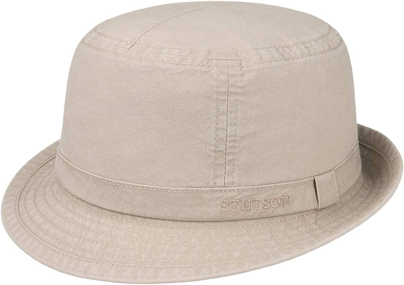 Stetson Gander Cloth Trilby Hombre - Sombrero ala Ancha de algodón Primavera/Verano
