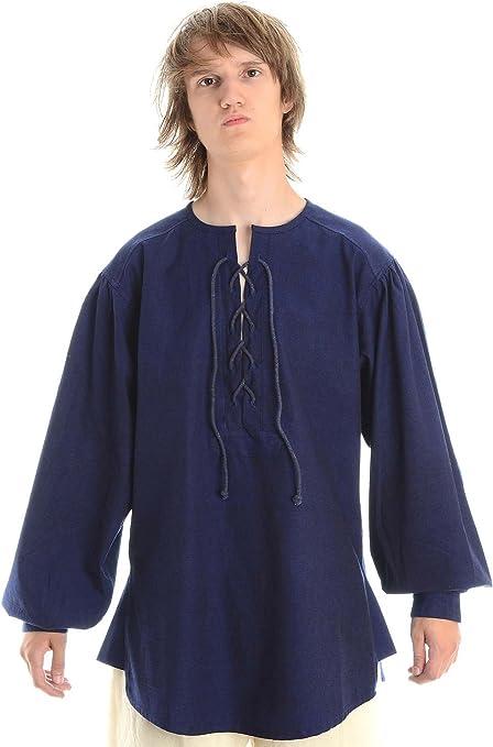 HEMAD/Billy Held - Camisa - Básico - cuello mao - Manga Larga - para hombre: Amazon.es: Ropa y accesorios