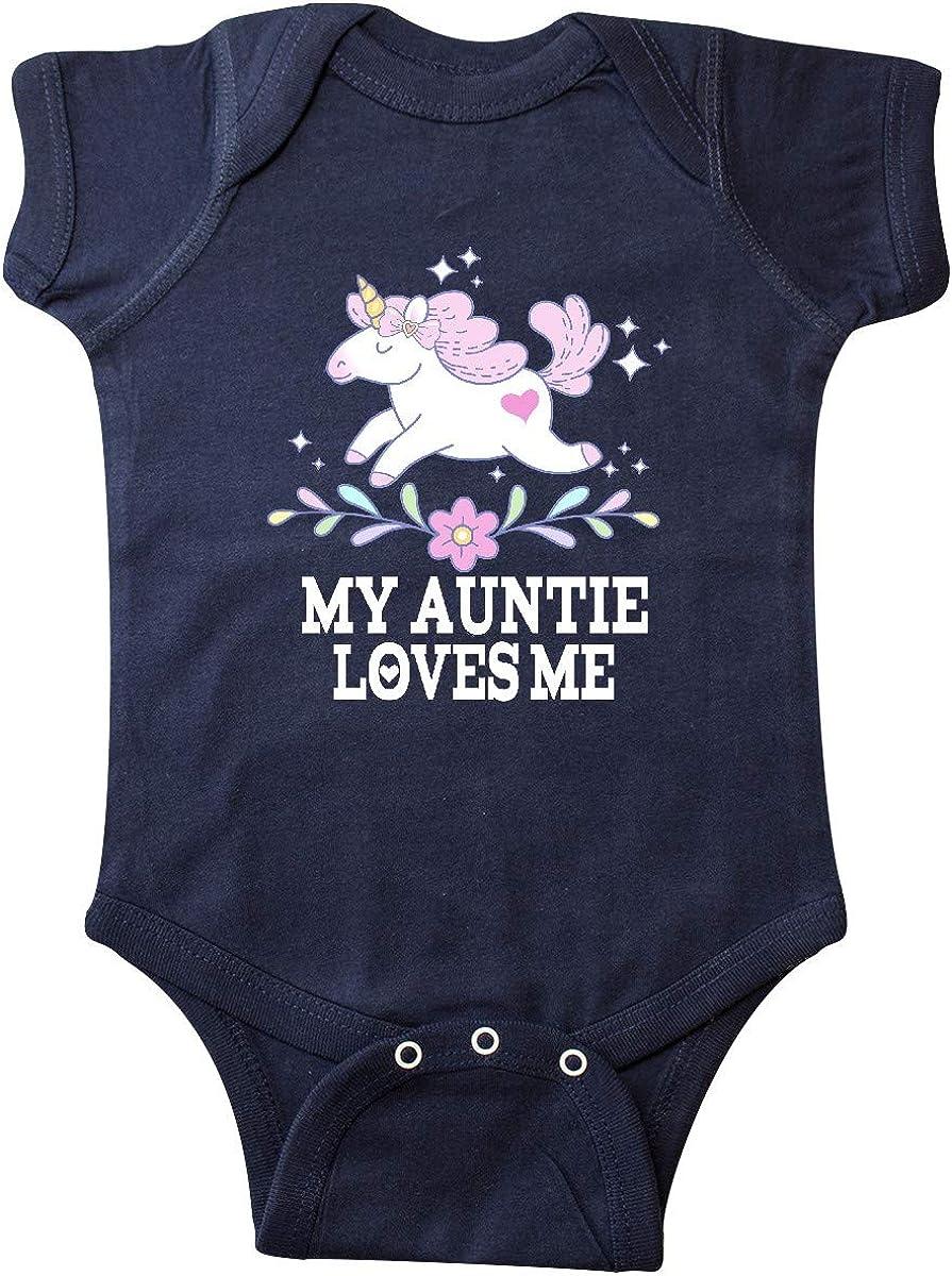 inktastic My Auntie Loves Me Unicorn Infant Creeper