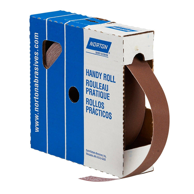 Norton Saint Gobain Abrasives 66261126296 2in. x 50yds 150 Grit Metalite K225 Aluminum Oxide Abrasive Roll, Brown