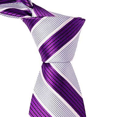 Amazon.com: Morado Rayas y cuadros, color azul luz corbata ...