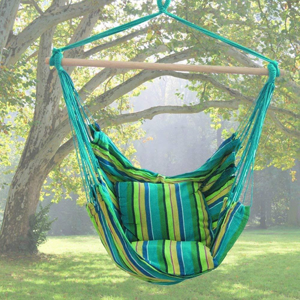 Color: 2, Tamaño: 130 * 100 cm Silla de Ocio Lona de Hamaca Silla de Columpio XHCP Hamaca Hamaca ...
