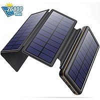 SWEYE Cargador Solar Móvil 26800mAh,【4 Paneles Solares Desmontable/Type-C Carga Rápida】 Batería Externa Móvil con 2…