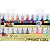 Bulk Buy: Scribbles Shiny 3D Paint - Pack of 20 Ultra Bright, Nontoxic & Permanent Dimensional Paints for Fabrics, T-shirts,