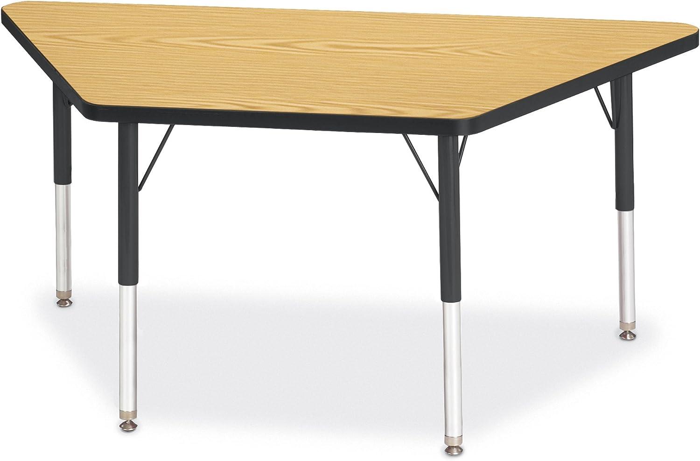 E-Height Gray//Yellow//Yellow 30 x 60 Berries 6443JCE007 Trapezoid Activity Tables