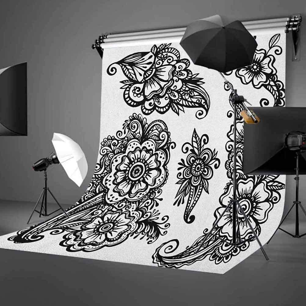 7x10 FT Southwestern Vinyl Photography Backdrop,Cartoon Style Hot Mexico Desert Landscape with Saguaro Cactus and Horse Rider Background for Photo Backdrop Baby Newborn Photo Studio Props