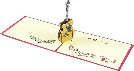 Diseño de la guitarra 3d Pop Up Tarjeta Tarjeta de felicitación ...