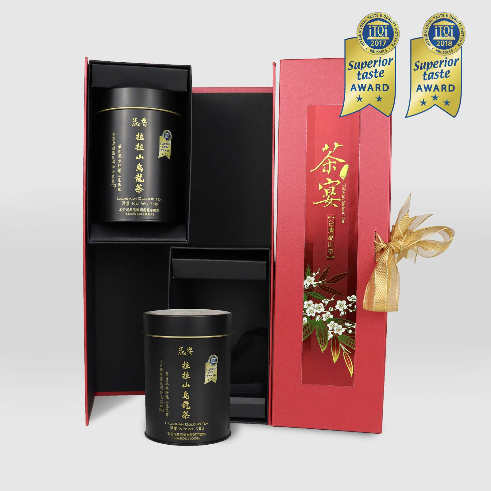 DING IN Lalashan Oolong Tea Feast Straight Gift Box 75g/2cans