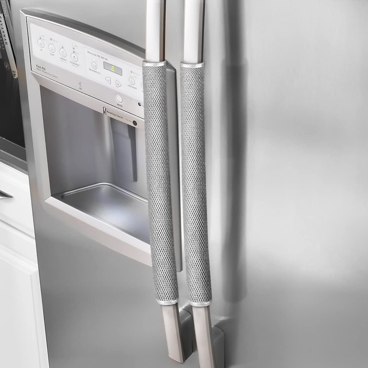 2PCS Refrigerator Door Protect Handle Covers Home Fridge Microwave Oven Cover  W
