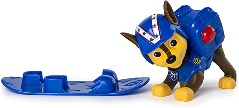 Paw Patrol Winter Rescues Action Pack Pup, Snowboard Chase: Amazon ...