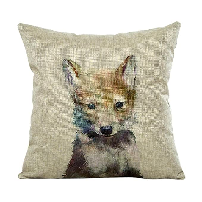 Amazon.com: fheaven Cute animales funda de almohada Sofá ...
