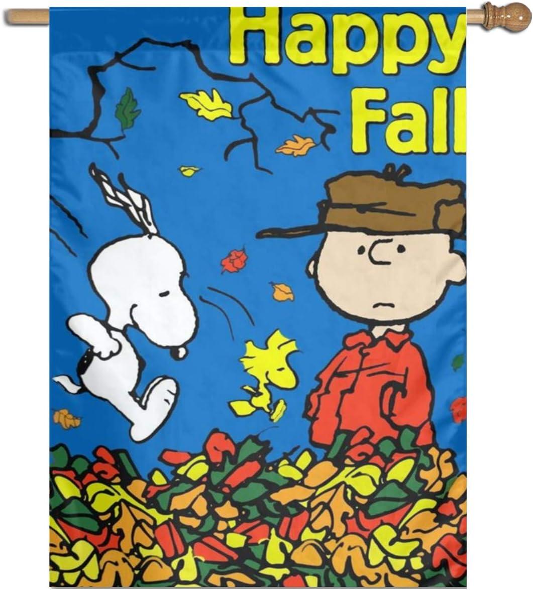 "LoV Snoopy Happy Fall Garden Flag Home Outdoor Indoor Decor 27"""" X37 Inch"