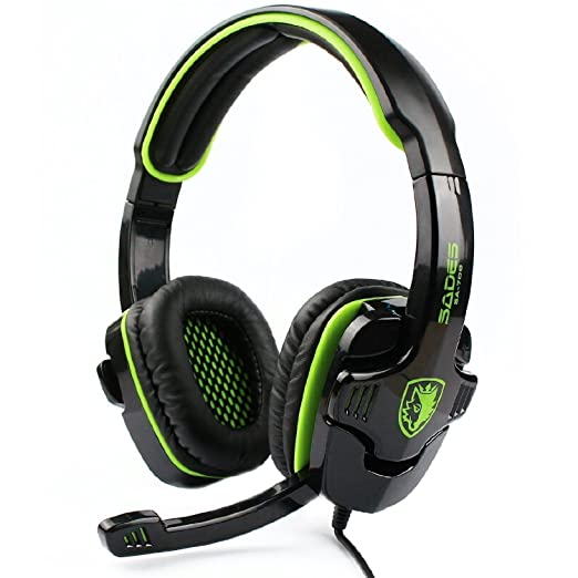5 opinioni per Sades SA 708 Wired Over-Ear Cuffie 3,5 mm Audio Plug Gaming Headset Gaming