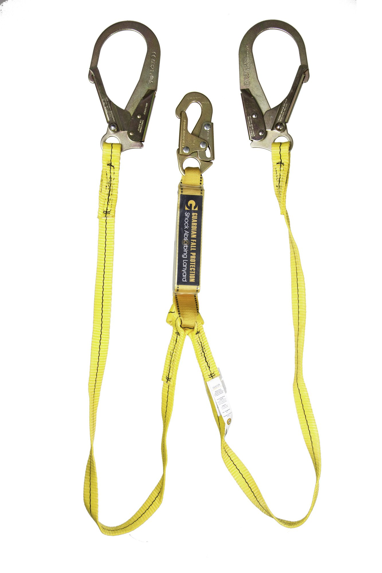 Guardian Fall Protection 01231 6-Foot Double Leg Shock Absorbing Lanyard by Guardian Fall Protection (Image #1)
