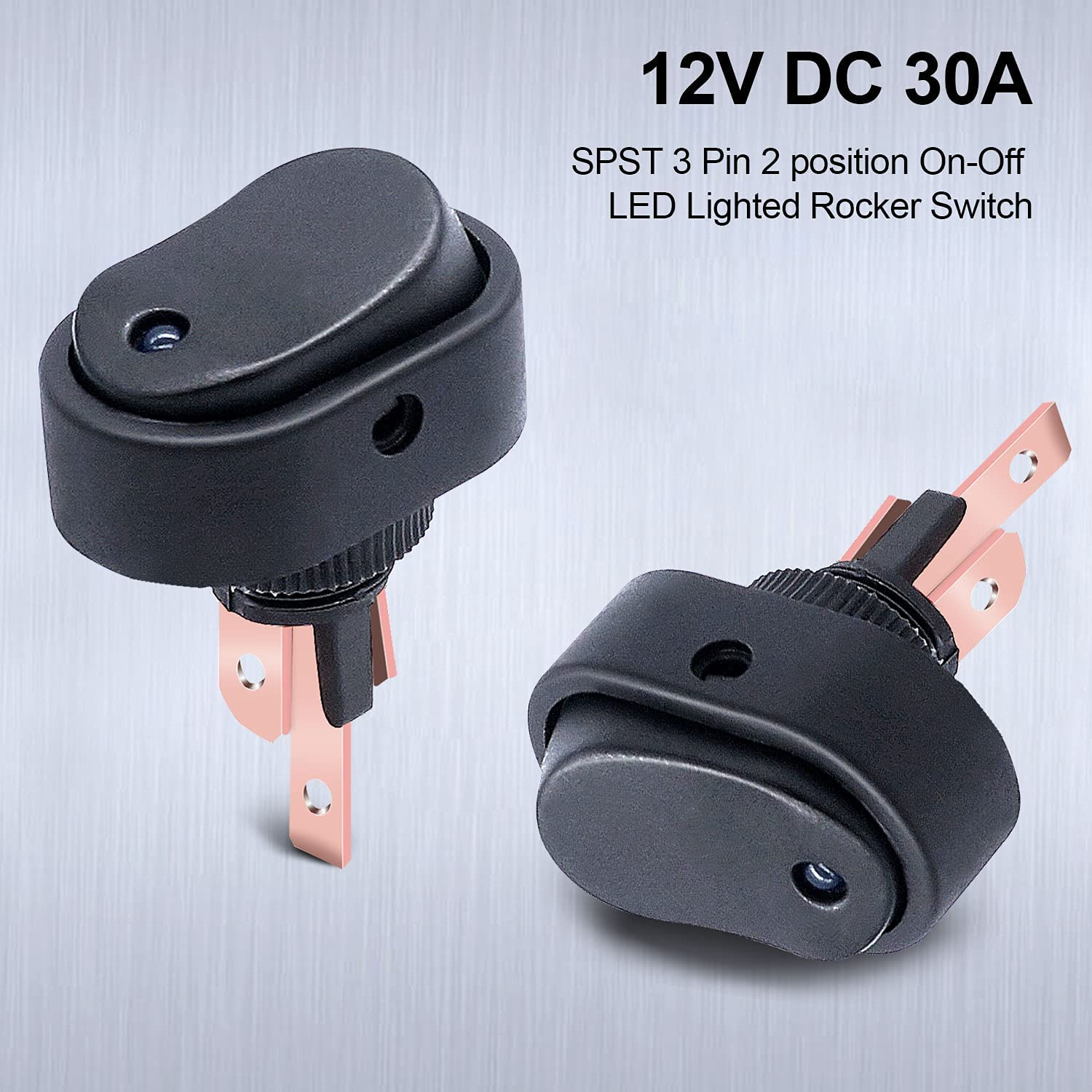 Details about  /5Pcs Red 12V Led Dot Light Auto Car Boat Round Rocker On-Off Toggle Switch cw