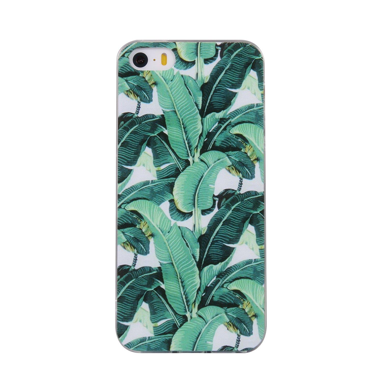 Pour iPhone 5 5S 5G / iPhone SE Case Cover, Ecoway TPU Soft Silicone motifs peints Housse en silicone Housse de protection Housse pour té lé phone portable pour iPhone 5 5S 5G / iPhone SE - Musculation Eafior