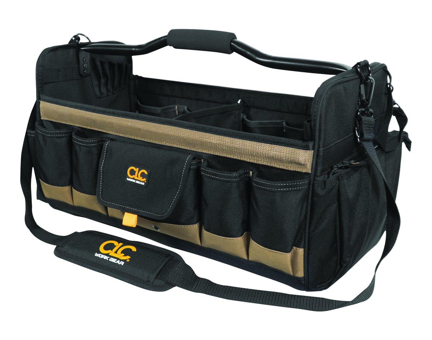 CLC Custom Leathercraft 1579 20 Inch, Open Top, Soft Sided Tool Box, 27 Pockets by Custom Leathercraft