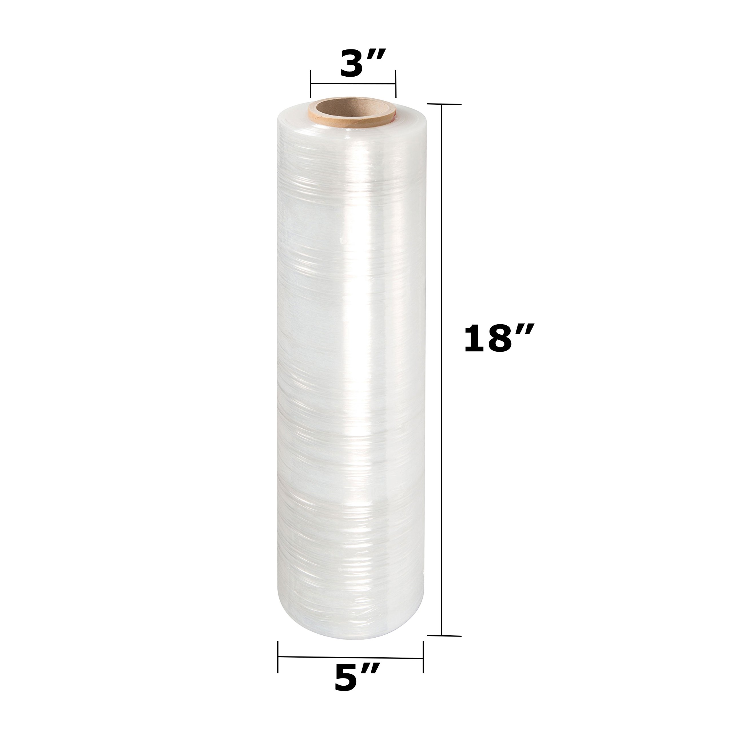LTB 2070 Stretch Wrap Film, 70 Gauge, 18'' x 1500 Ft Per Roll, Clear (Pack of 4) by LTB MFG (Image #2)