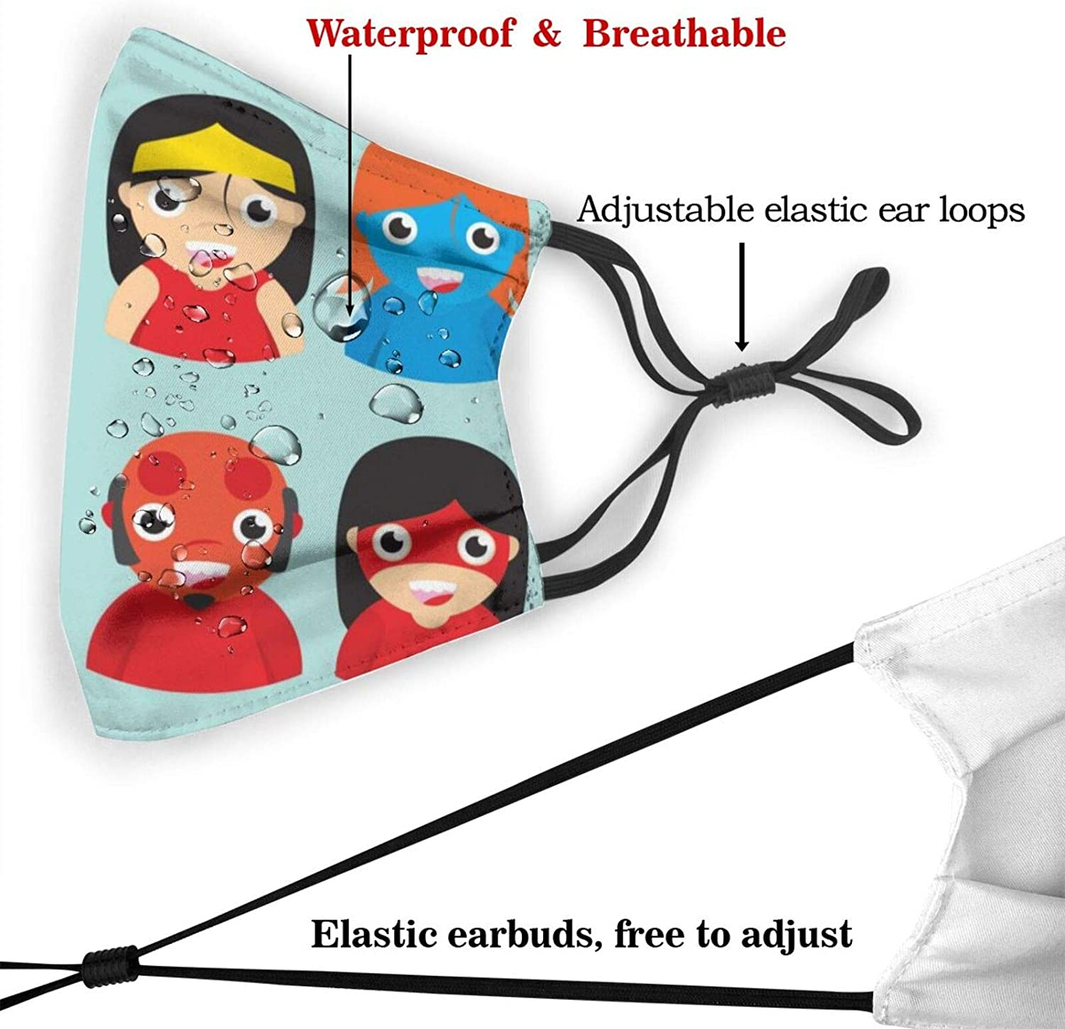 Superhero Multifunctional Face Cover for Child Men Women Sun Protector Breathable Outdoor Wind Uv Dustproof