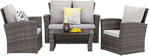 Wisteria Lane 4 Piece Outdoor Patio Furniture Set