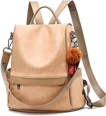 Women Mini Backpack PU Leather Shoulder School Rucksack Ladies Girl Travel KTP