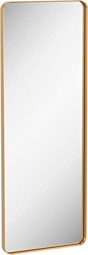 ZEEK 60×22 Gold Wall Mirror Full Length Thin Edge Long Mirror Large Decorative Bathroom Vanity Mirror