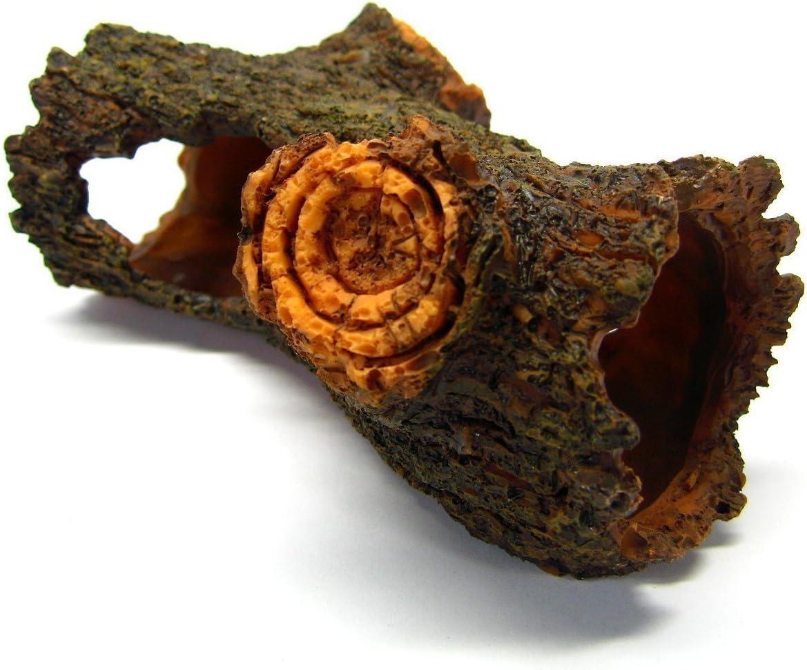 "Decaying Trunk 6.7"" Aquarium Ornament Driftwood - Decoration Fish Tank Tree Wood"