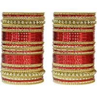 MUCH MORE Ethnic Design Work Charming Bangle Set for Women Wedding Jewelry