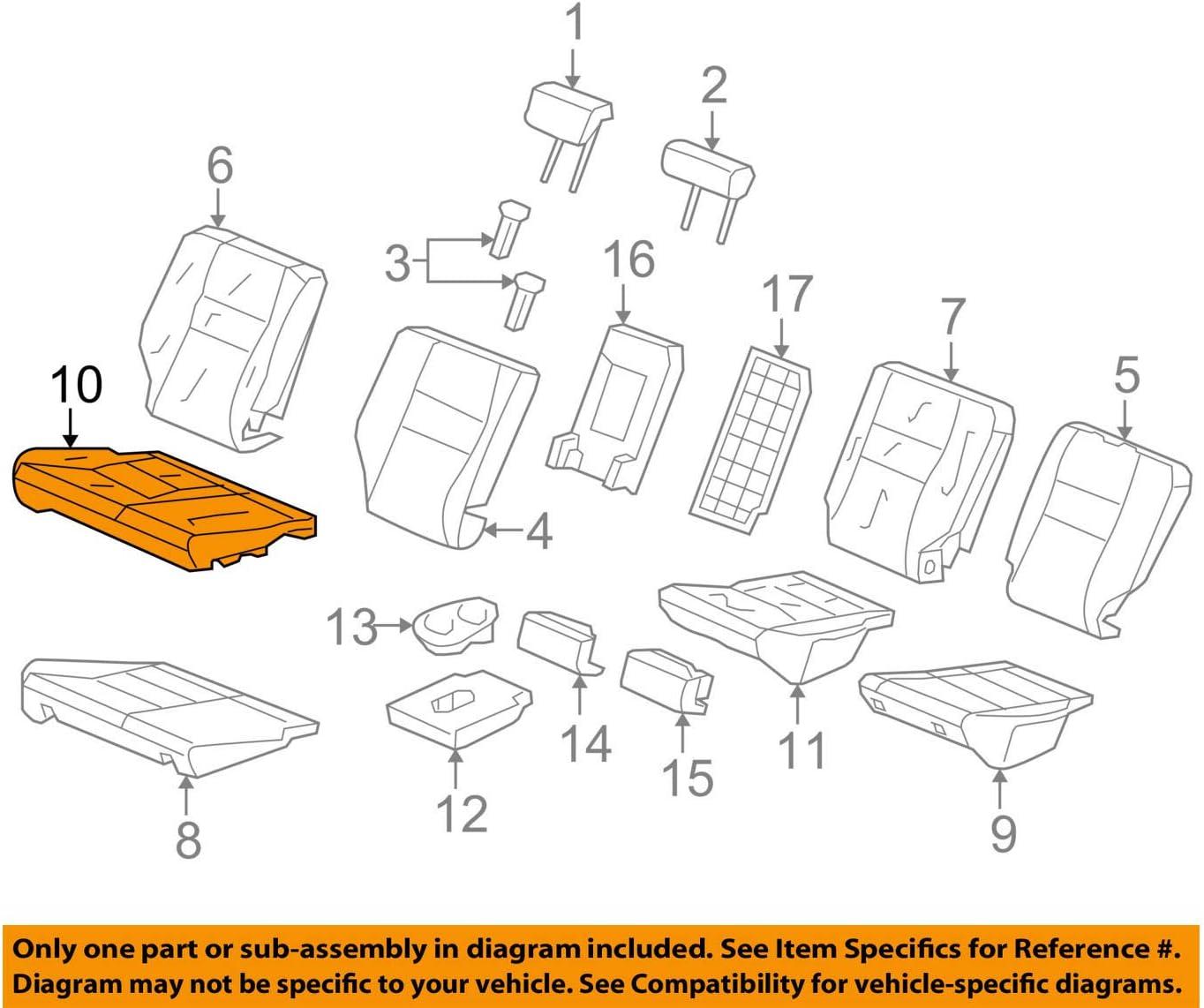 Right Honda Genuine 81131-SDC-L01ZC Seat Cushion Trim Cover Front