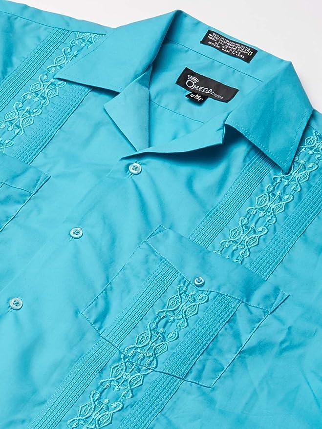 JD Apparel Mens Short Sleeve Cuban Guayabera Shirts: Amazon.es: Ropa y accesorios