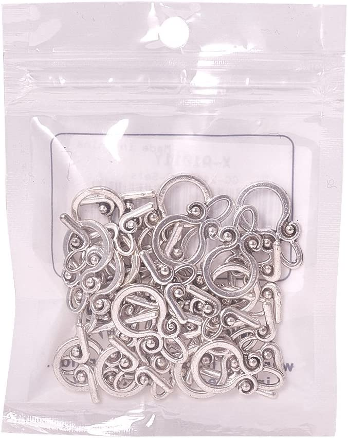 Pandahall 20 Sets Golden Flat Round Tibetan Style Toggle Clasps Cadmium Free /& Nickel Free /& Lead Free for Jewelry Making