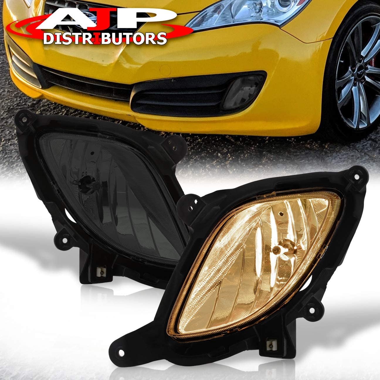 Amazon.com: AJP Distributors For Hyundai Genesis Coupe Front Driving Fog  Light Lamp Smoke Smoked Lens Switch Harness Wiring Unit Pair Kit Set:  AutomotiveAmazon.com